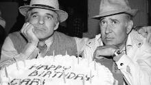 Steve Martin poses with Carl Reiner in 1979.