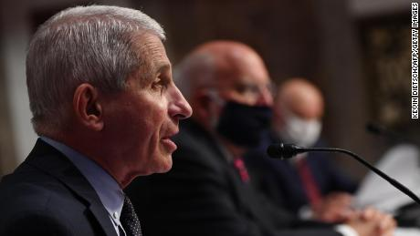 Dr. Anthony Fauci, director of the National Institute for Allergy and Infectious Diseases, testifies before the Senate Health, Education, Labor and Pensions (HELP) Committee hearing on Capitol Hill in Washington DC on June 30, 2020 in Washington, DC.