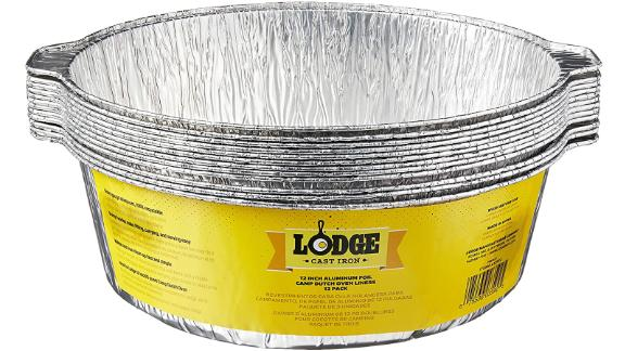 Lodge 12-Inch Aluminum Foil Dutch Oven Liners, 12-Pack