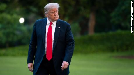 Trump walks to the White House residence after exiting Marine One on the South Lawn on June 25, 2020 in Washington, DC. President Trump traveled to Wisconsin on Thursday for a Fox News town hall event and a visit to a shipbuilding manufacturer.