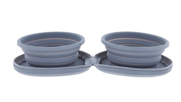 Arcadia Trail Collapsible Double Diner Travel Bowls