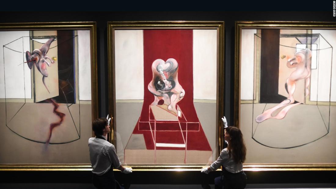 """La pittura di Francis Bacon vende per 84 milioni di dollari all'asta surreale virtuale """"ibrida"""""""