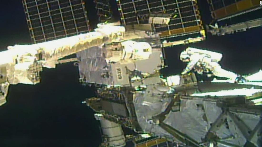 NASA astronauts conduct second spacewalk for area station energy upgrades - CNN thumbnail