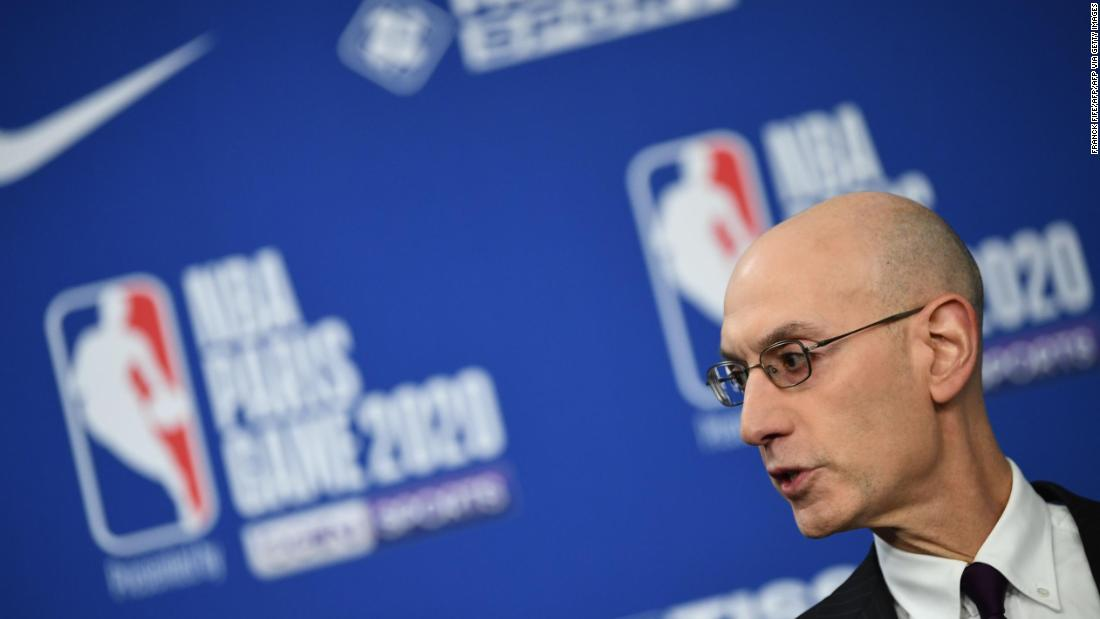 NBA commissioner Adam Silver can't guarantee season will continue if there's rise in coronavirus cases