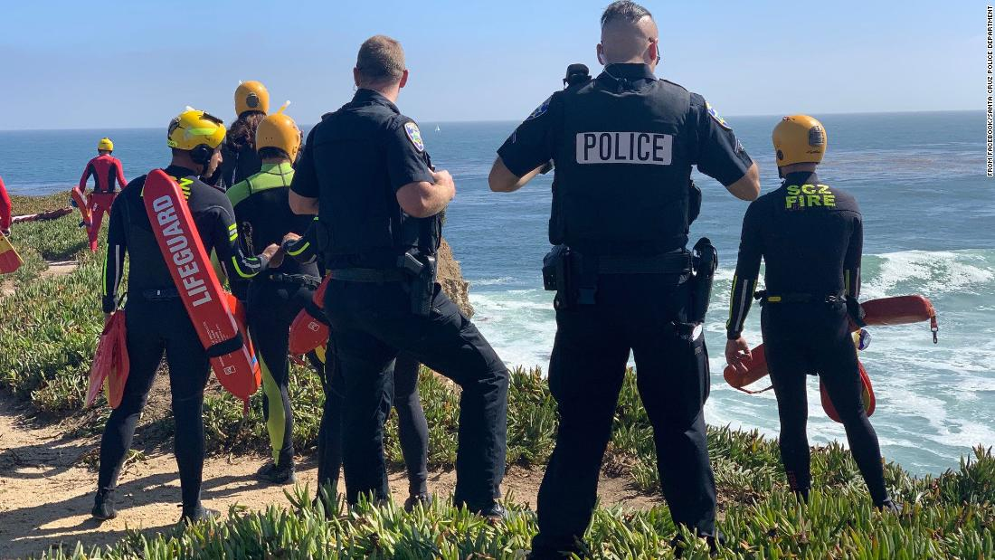 100-mph car chase sees suspect drive off cliff and into Pacific Ocean