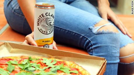 White Claw partnered with Blaze Pizza for a mango-flavored crust.