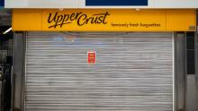 An Upper Crust in Waterloo Station, London.