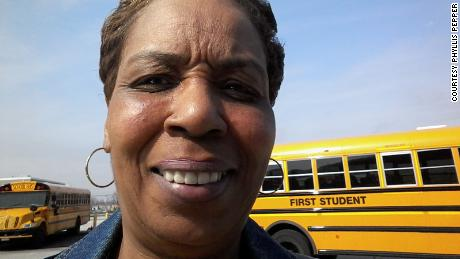 Phyllis Pepper believes that students temperatures should be checked before boarding buses.