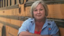 Bus driver Darleen Swanson fears that she may infect her family with covid-19 given how many people she's exposed to during her job.