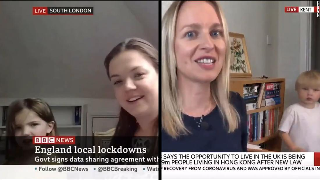 Watch toddlers interrupt live BBC, Sky News interviews