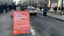 London's Metropolitan Police alert passersby to the use of live facial recognition technology in late February.