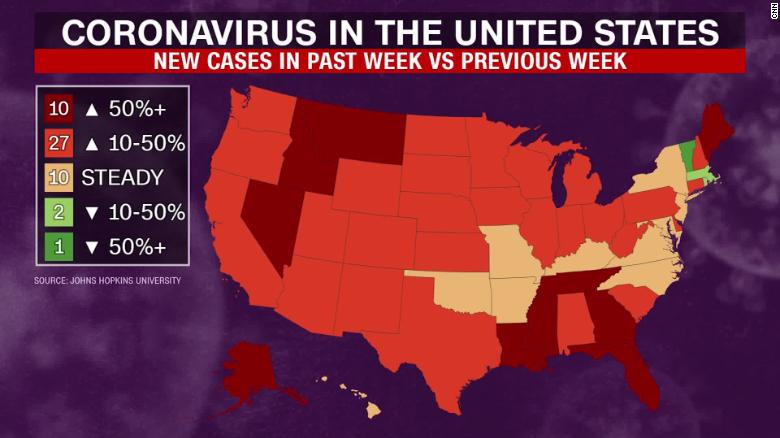 Florida coronavirus: State marks Covid-19 case record as July ...
