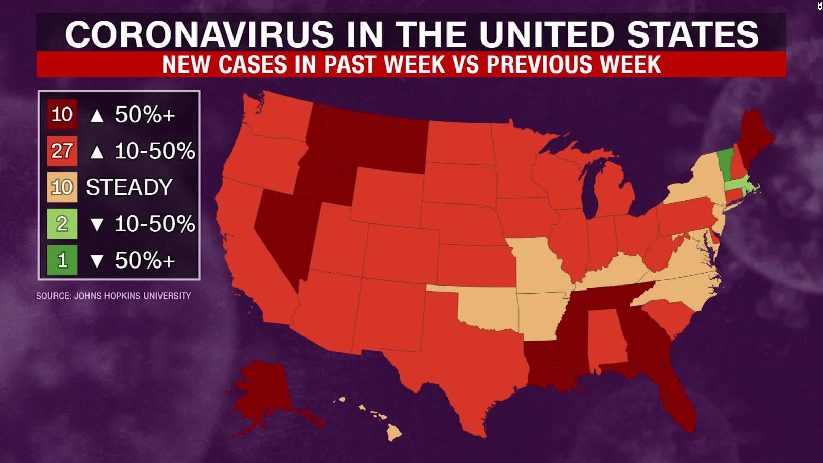 Picture of: Us Sets A New Single Day Record Of Coronavirus Cases Cnn Video