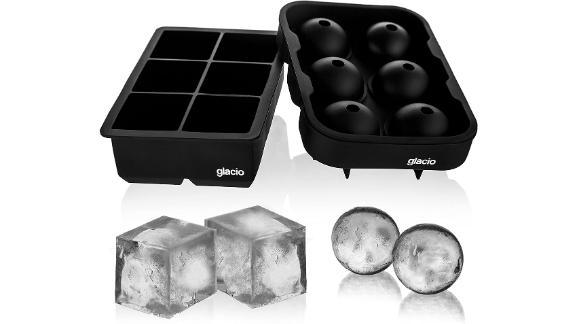 Glacio Ice Cube Trays Silicone Combo Mold