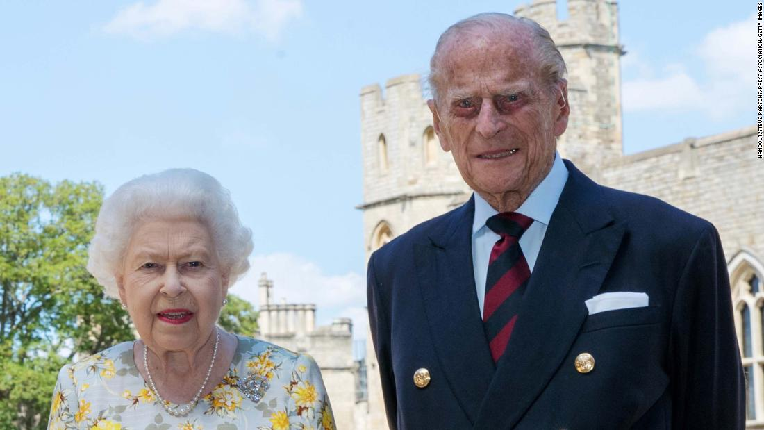"The Queen and <a href=""http://www.cnn.com/2012/06/05/world/gallery/prince-philip/index.html"" target=""_blank"">Prince Philip</a> pose for a photo in June 2020, ahead of Philip's 99th birthday."