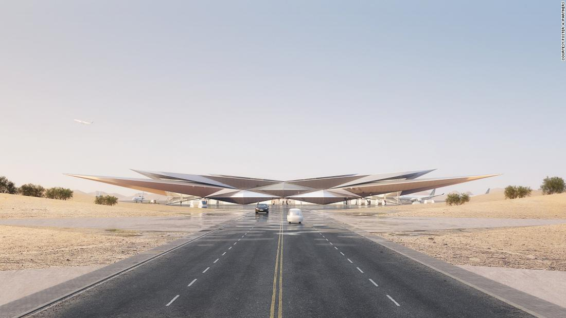 New airport design resembles shimmering desert mirage