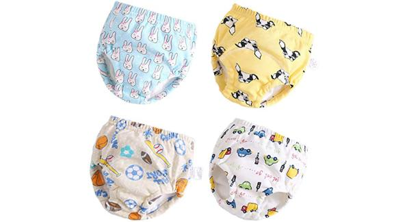 Layered Cotton Toddler Potty Training Pants -- 4-Pack