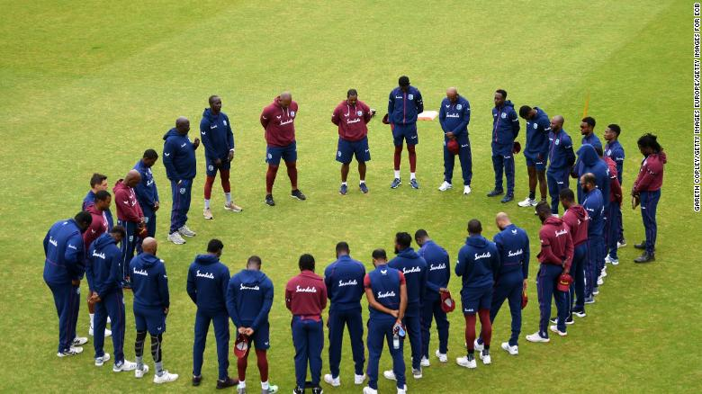 The West Indies team observed a minutes silence in memory of Weekes today.
