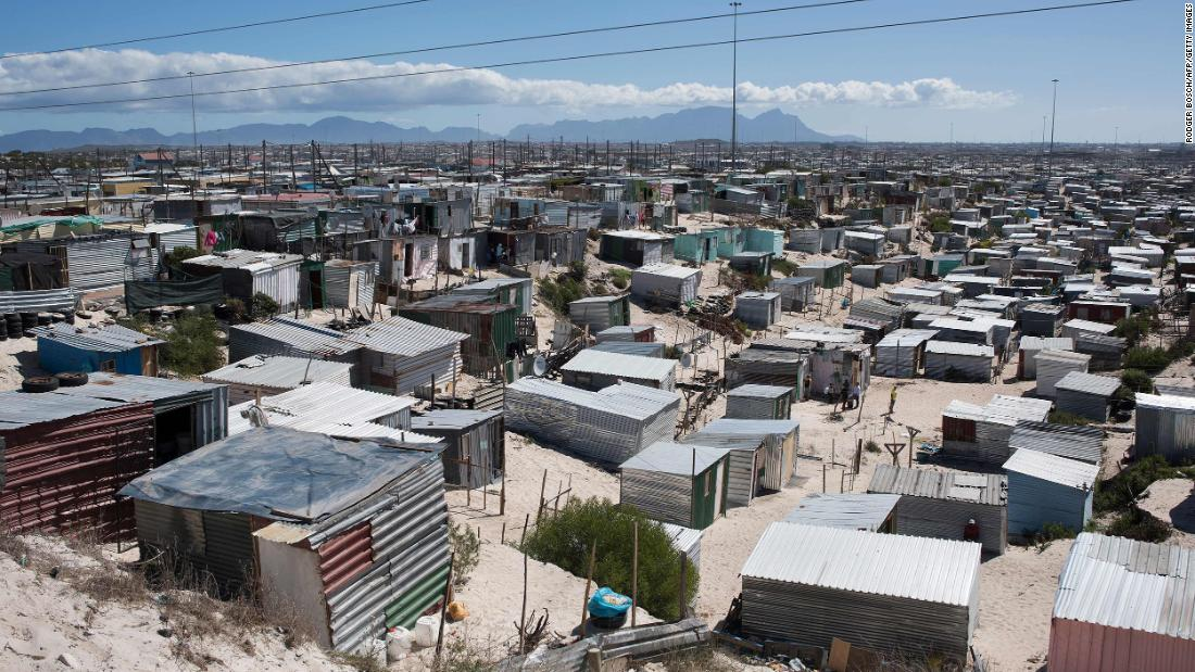 A general view of Khayelitsha, near Cape Town, on March 31, 2020 in Cape Town. - Local government administrators in Cape Town said on March 29, 2020, a COVID-19 coronavirus case had been detected in Khayelitsha, the city's largest township, where hundreds of thousands live in shacks.  An outbreak in the crowded townships where water and sanitation are problematic, could prove difficult to contain in the country which already has the highest number of infections in Africa. (Photo by RODGER BOSCH / AFP) (Photo by RODGER BOSCH/AFP via Getty Images)