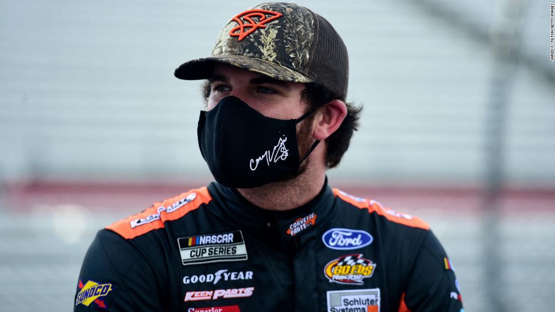 NASCAR driver Corey Lajoie will drive a 'Trump 2020' car at Sunday's prestigious Brickyard 400