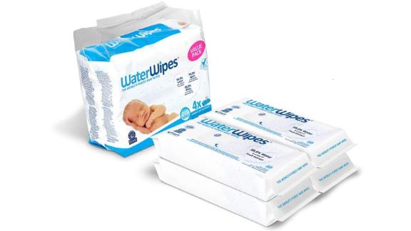 WaterWipes Unscented Baby Wipes, Sensitive and Newborn Skin, 4 Packs