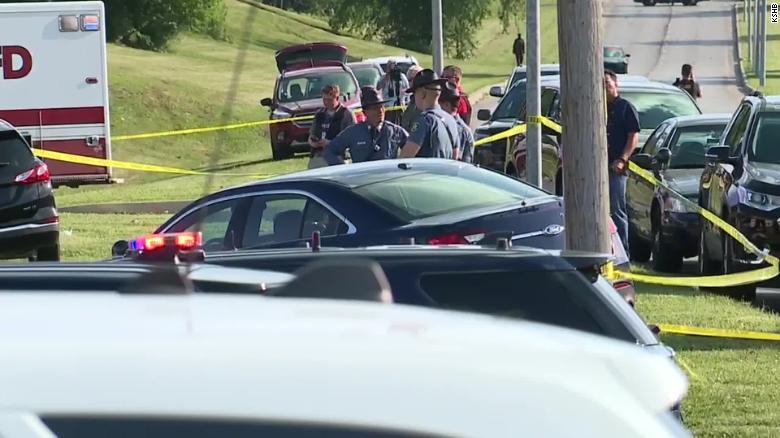 An officer and a suspect were shot near a McDonald's in Kansas City, Missouri.