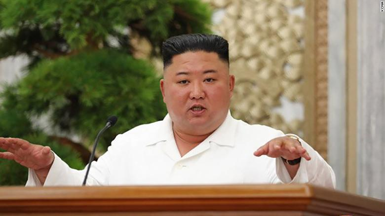North Korean leader Kim Jong Un is seen providing over a meeting on Thursday in this photograph supplied by KCNA.