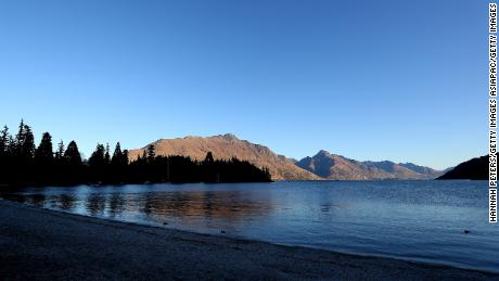A general view of the lake front on June 25, 2020 in Queenstown, New Zealand.