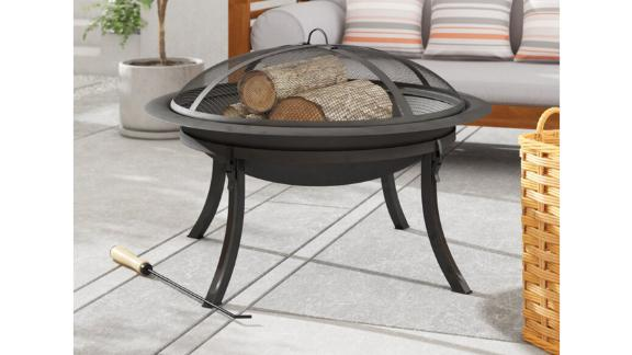 Sol 72 Gloucester Steel Wood Burning Fire Pit