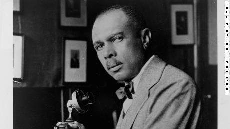 "Writer and educator James Weldon Johnson (1871-1938) who wrote ""Lift Every Voice and Sing."""