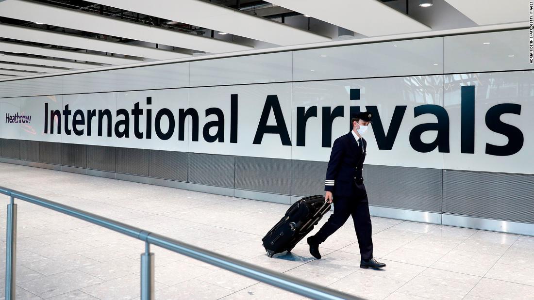 L'Inghilterra sblocca viaggi con 59 paesi, ma non negli Stati Uniti