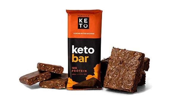 Perfect Keto Bars Almond Butter Brownie Snack