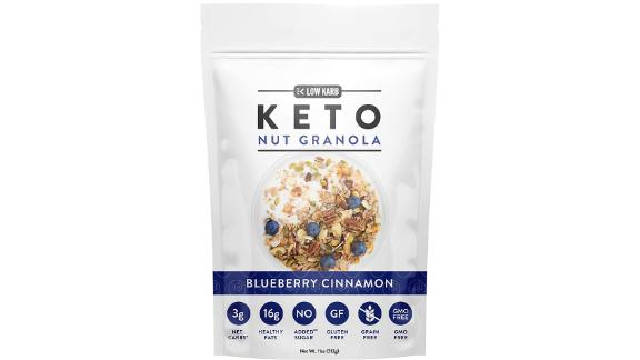 Low Karb Keto Blueberry Nut Granola