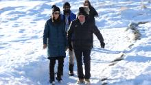 Prime Minister Jacinda Ardern during a visit to Cardrona Alpine Resort on June 26, 2020 in Cardrona, New Zealand, as the town's ski season opened to the public.