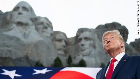 Trump at Mount Rushmore National Memorial, July 3, 2020.