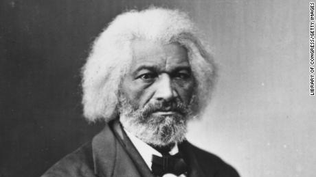 American journalist, author, abolitionist and former slave Frederick Douglass.