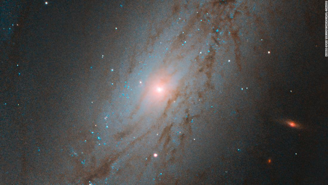 The Sculpted Galaxy  Captured by the NASA/ESA Hubble Space Telescope, this image shows NGC 7513, a barred spiral galaxy. Located approximately 60 million light-years away, NGC 7513 lies within the Sculptor constellation in the southern hemisphere.   This galaxy is moving at the astounding speed of 1564 kilometres per second, and it is heading away from us. For context, the Earth orbits the Sun at about 30 kilometres per second. Though NGC 7513's apparent movement away from the Milky Way might seem strange, it is not that unusual.   While some galaxies, like the Milky Way and the Andromeda galaxy, are caught in each other's gravitational pull and will eventually merge together, the vast majority of  galaxies in our Universe appear to be moving away from each other. This phenomenon is due to the expansion of the Universe, and it is the space between galaxies that is stretching, rather than the galaxies themselves moving.