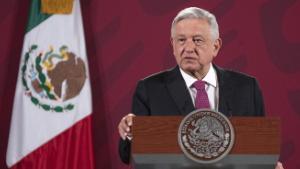 (200702) - CIDADE DO MÉXICO, 2 de julho de 2020 (Xinhua) - O presidente mexicano Andres Manuel Lopez Obrador fala durante uma conferência de imprensa na Cidade do México, México, em 1 de julho de 2020. O Acordo EUA-México-Canadá (USMCA) oficialmente entrou em vigor na quarta-feira, substituindo o Acordo de Livre Comércio da América do Norte (NAFTA), de 26 anos.  (Str / Xinhua) (Foto de Xinhua / Sipa EUA)