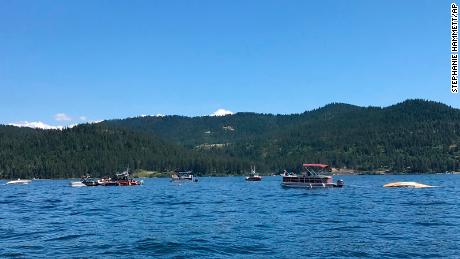 Two planes collided over Coeur d'Alene Lake in Idaho Sunday before sinking 127 feet under water.