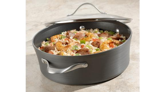 Calphalon Contemporary Hard-Anodized Aluminum Nonstick Cookware, Sauce Pot, 5-quart