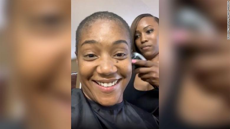 Haddish said she shaved off all her hair because she wanted to see her scalp for the first time.
