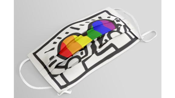 Pride Heart, Tribute To Keith Haring Face Mask