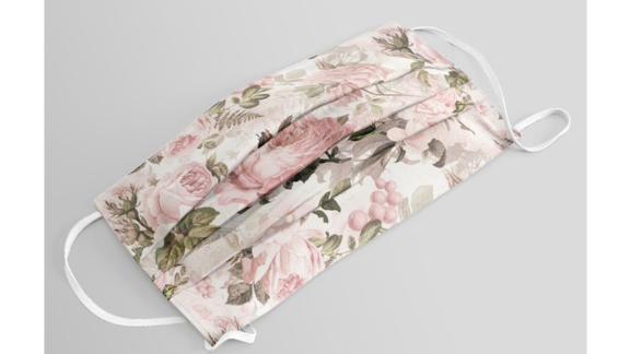 Vintage & Shabby Chic - Sepia Pink Roses Face Mask