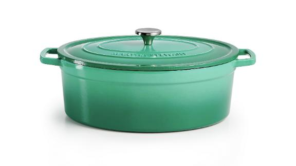 Martha Stewart Collection Enameled Cast Iron Oval 8-Qt. Dutch Oven