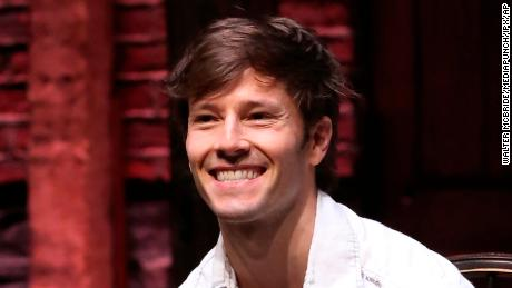 Thayne Jasperson during a Q & amp; A before a show of