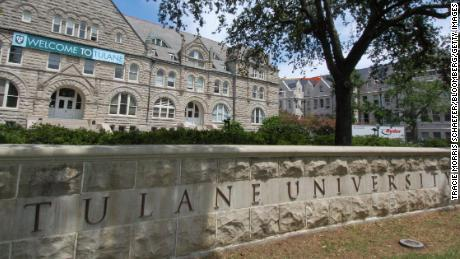 A sign welcomes students to Tulane University in New Orleans in  this file photo.