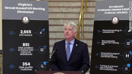 Virginia tested thousands of kits to eliminate its backlog of rape kits, Attorney General Mark Herring said.