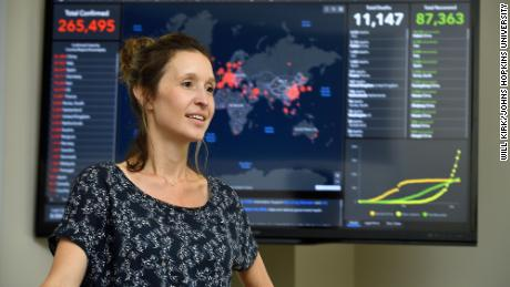 Civil engineering professor Lauren Gardner, of the Center for Systems Science and Engineering at Johns Hopkins University, is the lead behind the dashboard project.