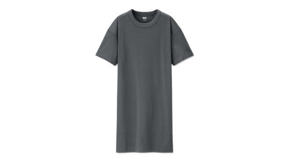 U Crew Neck Short-Sleeve Dress