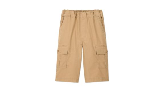 Kids Wide Fit Cargo Half-Pants